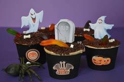 Recettes Halloween : cupcakes aux vers de terre