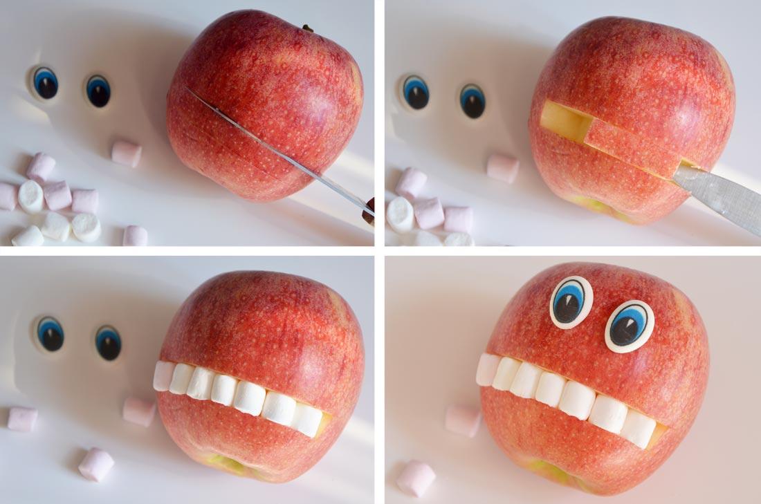 fruitos pommes décorées pour Halloween