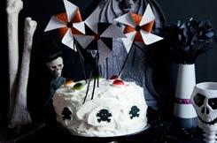 gâteau Halloween aux myrtilles