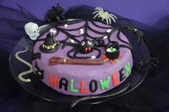 gâteau Halloween au chocolat et aux globules de zombie
