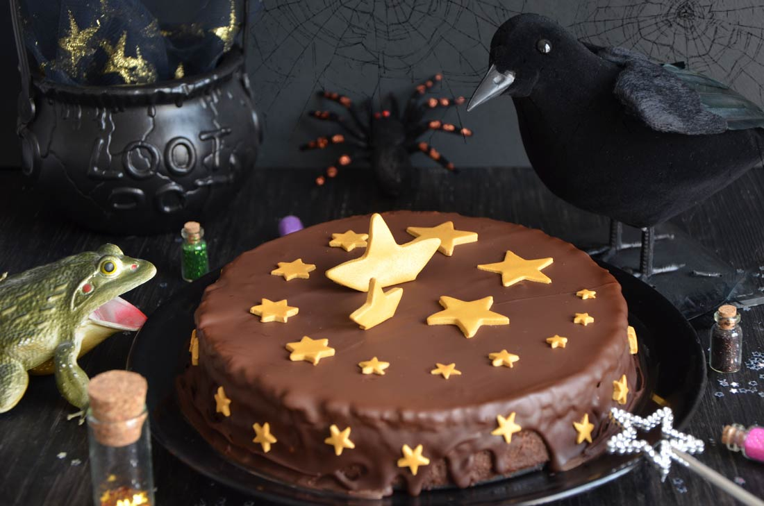 Gâteau magique au chocolat {Halloween on the way !}
