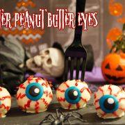 Halloween monster peanut butter eyes