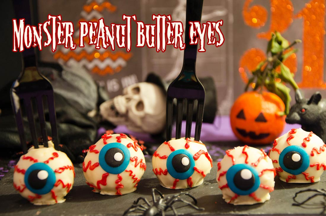 Halloween monster peanut butter eyes