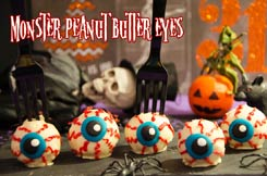 Monster peanut ball eyes
