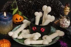 Recettes Halloween : doigts de sorcière en meringue