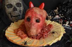 Halloween raclette party tête de mort