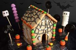 maison pain d'épices façon Halloween