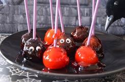 mini pommes d'amour Halloween