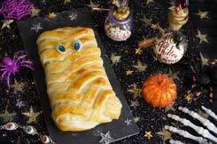 Momie Halloween tressée feuilletée chocolat guimauve, récap Halloween