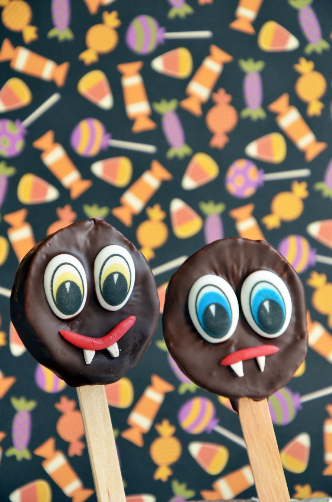 fruitos kiwis, la sucette d'Halloween saine