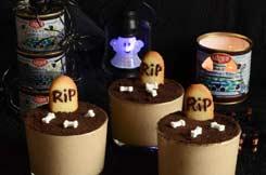 mousse à la crème de marrons pour Halloween
