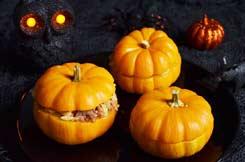 courges Jack B Little céréales marrons pour Halloween