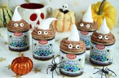 petits fondants crème de marrons pour Halloween