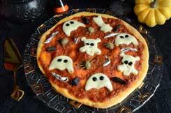 pizzas fantômes maison pour Halloween
