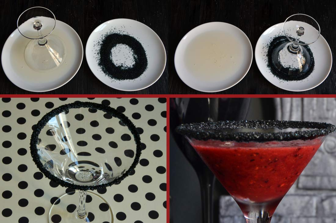 smoothies fruits rouges verre givr noir. Black Bedroom Furniture Sets. Home Design Ideas