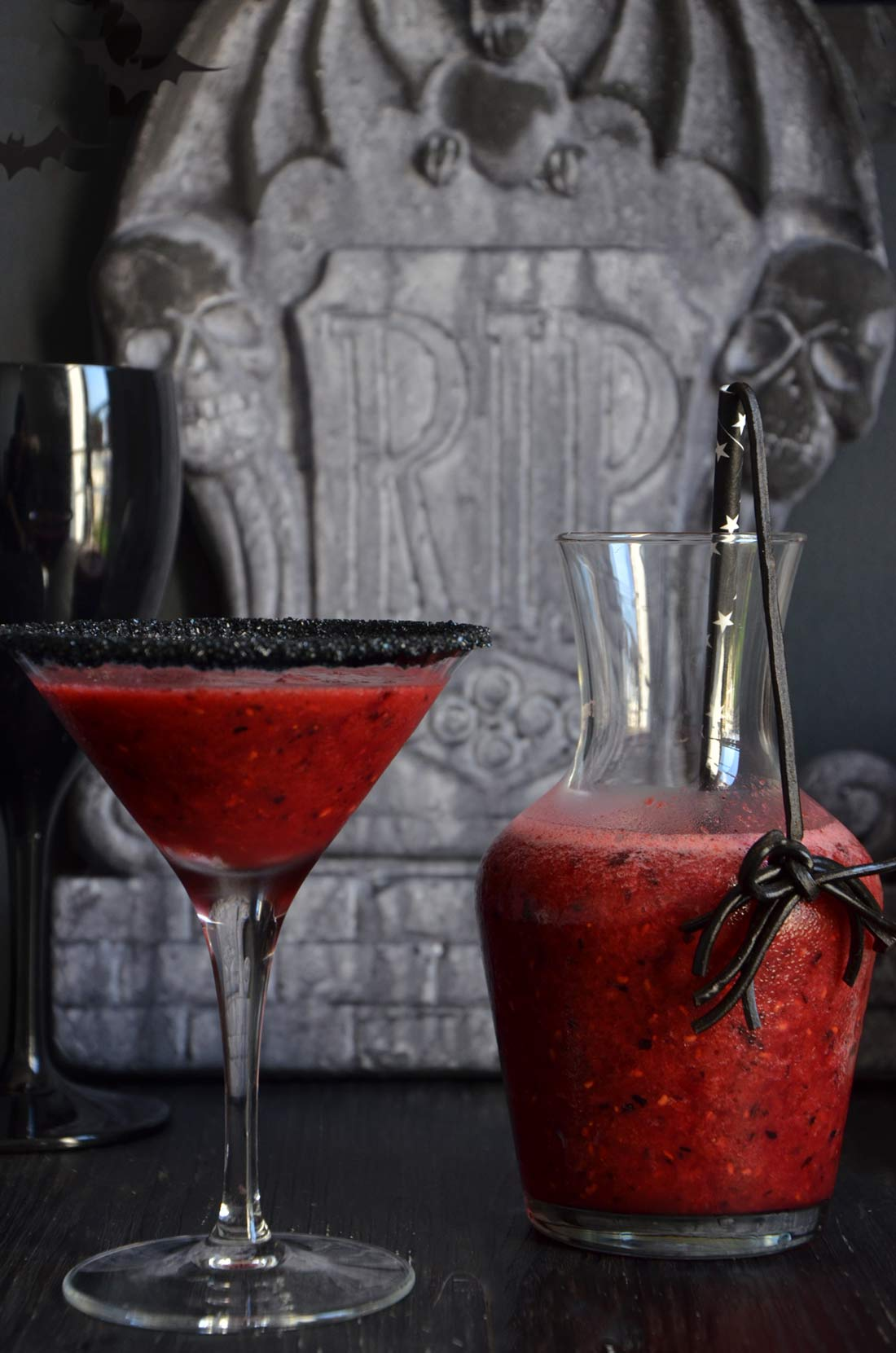 smoothies fruits rouges pour Halloween
