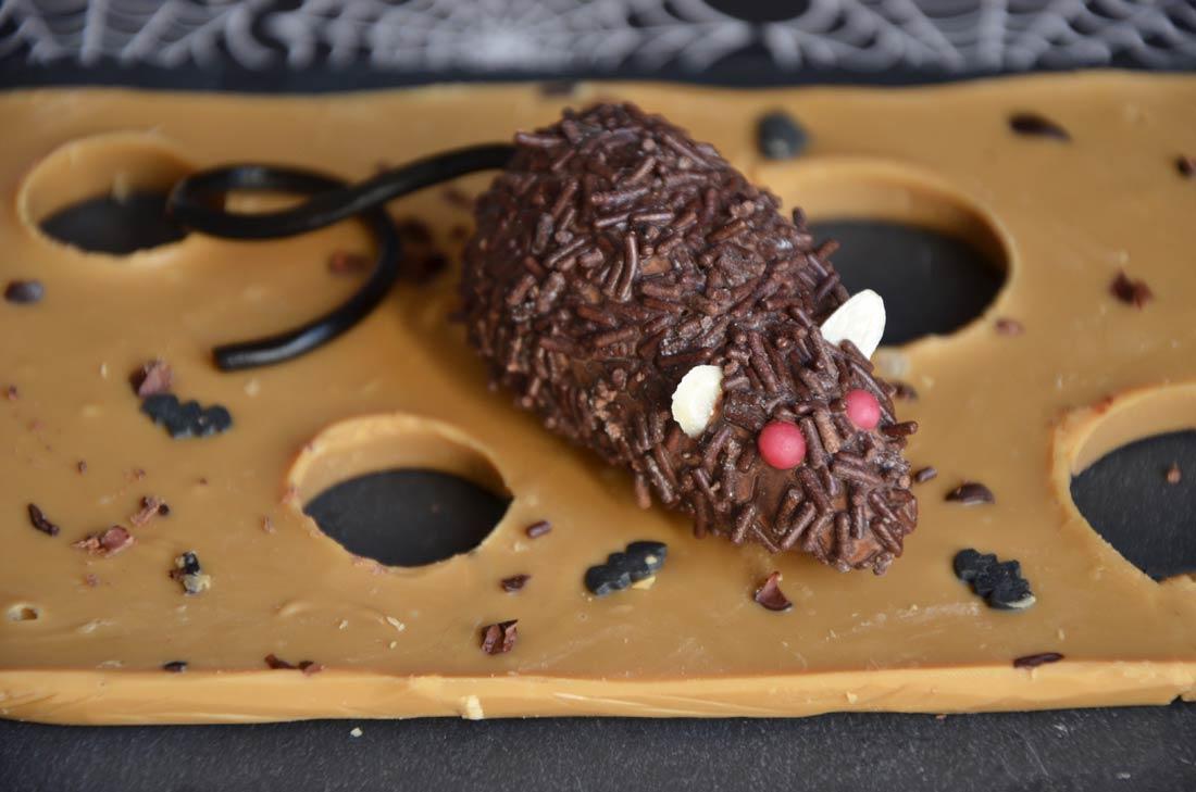 Souris enragées en chocolat et pâte d'amande