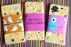 tablettes chocolat fantômes pour Halloween