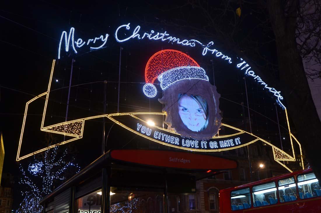Voyage gourmand à Londres : les décorations de Noël