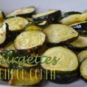 courgettes au citron confit