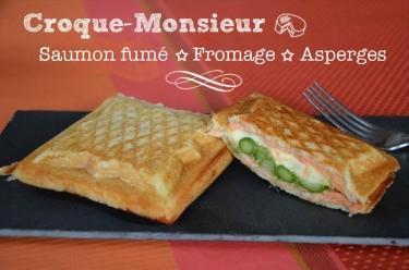 croque monsieur saumon fromage asperges