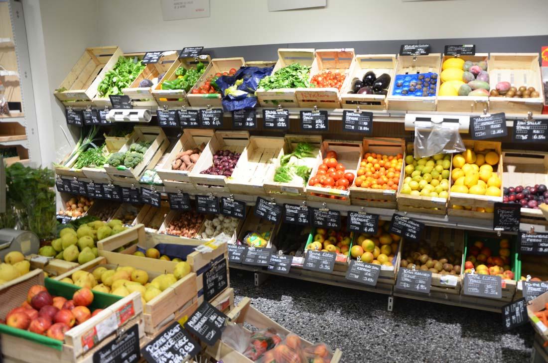 fruits et légumes chez Naturalia