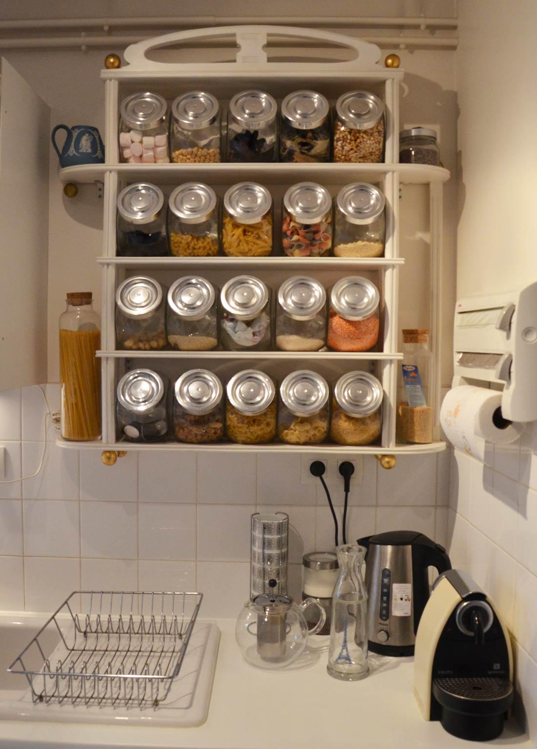 Les bocaux dans ma cuisine