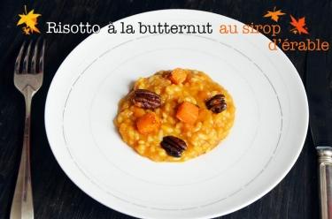 risotto à la butternut caramélisée au sirop d'érable