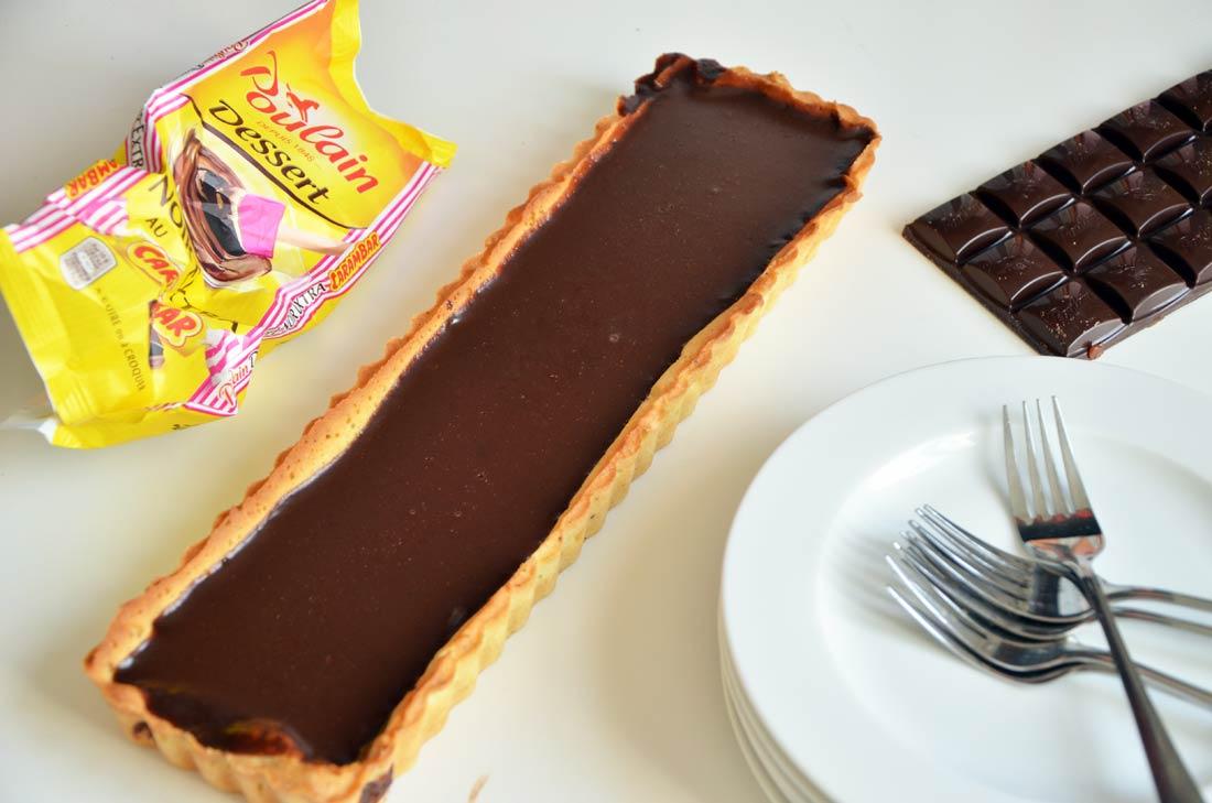 Tarte chocolat Poulain Carambar