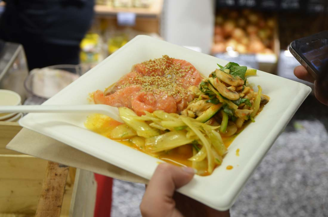 assiette de saumon par Yvan Cadiou