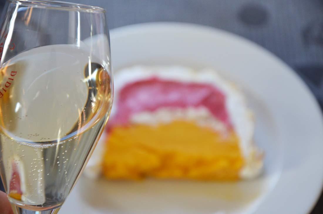 bûche glacée champagne