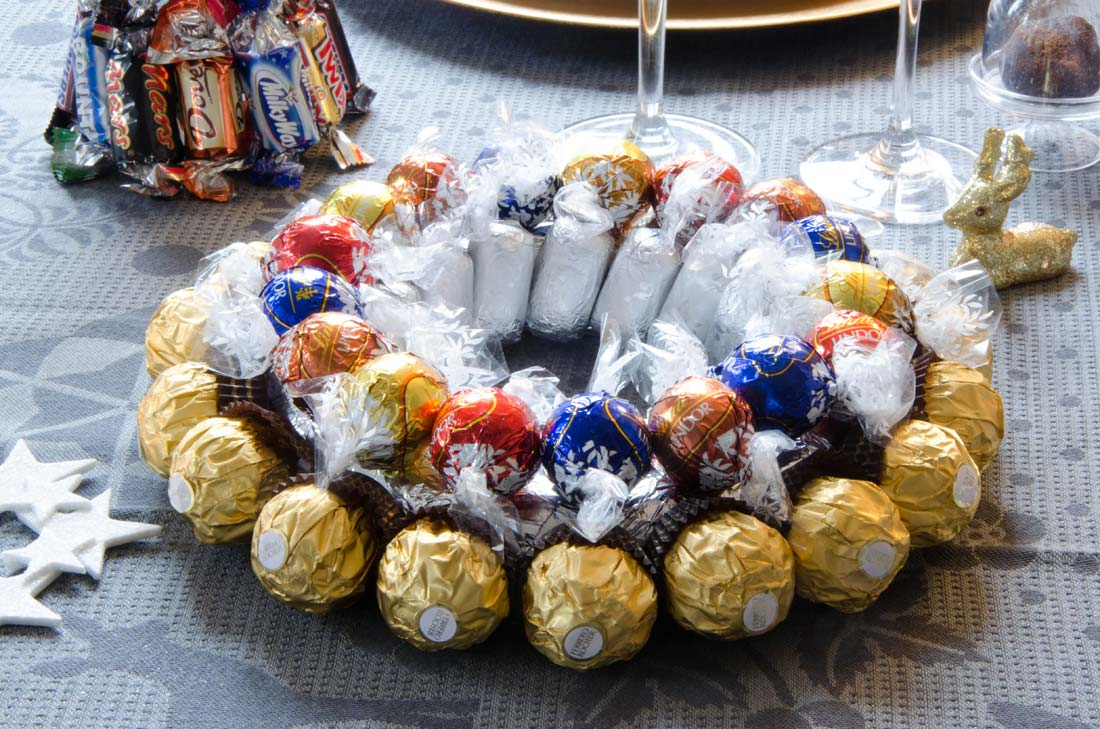 centre de table en chocolat