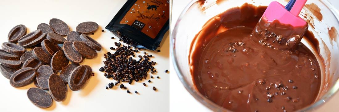 chocolat pour les truffes