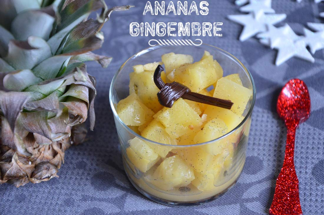 compote d'ananas gingembre