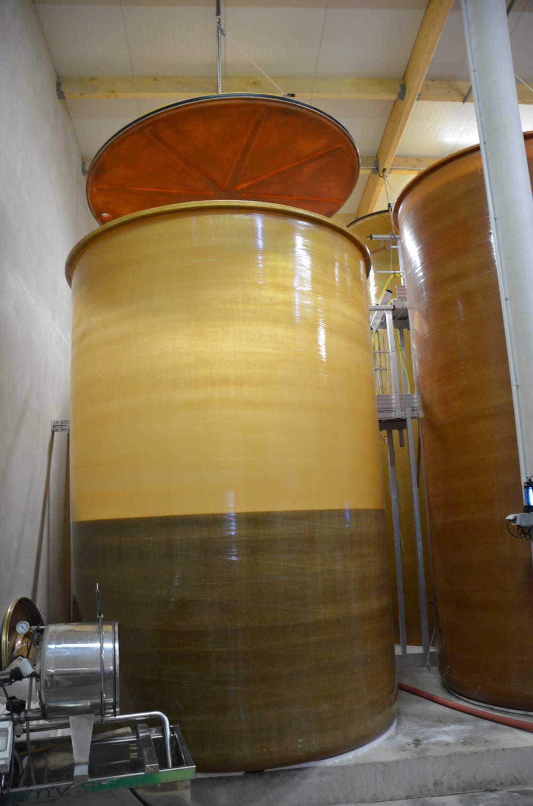 cuve de stockage du cidre