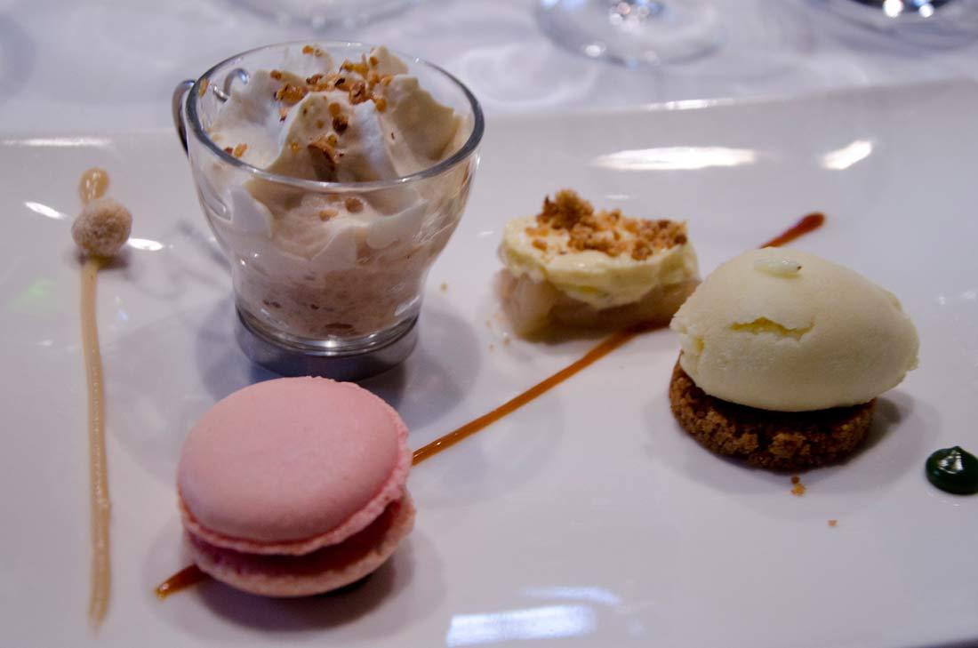 dessert du menu échappée bulles