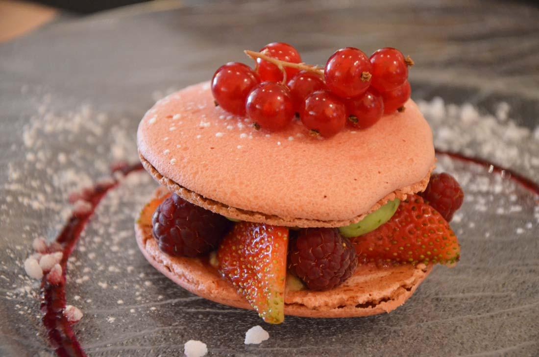 macaron fruits rouges