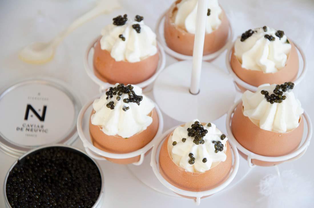 oeufs à la Royale au caviar