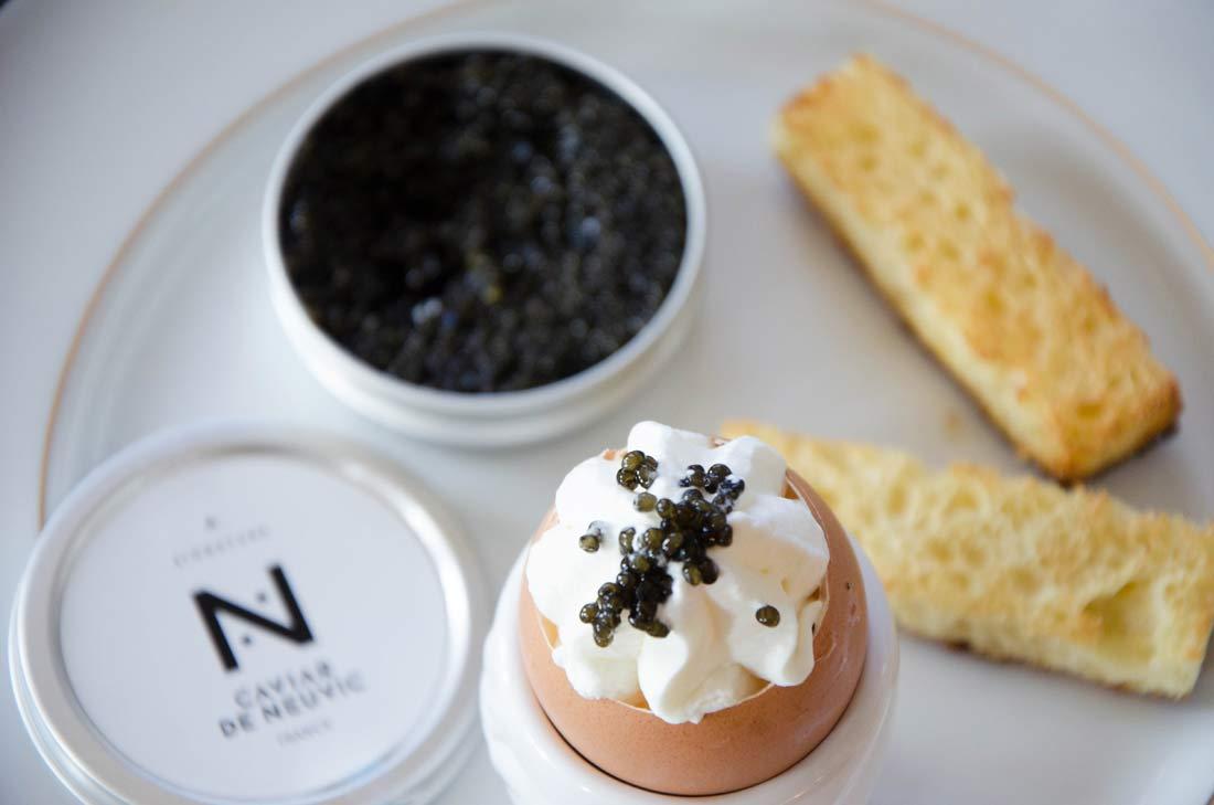 oeuf chantilly et caviar