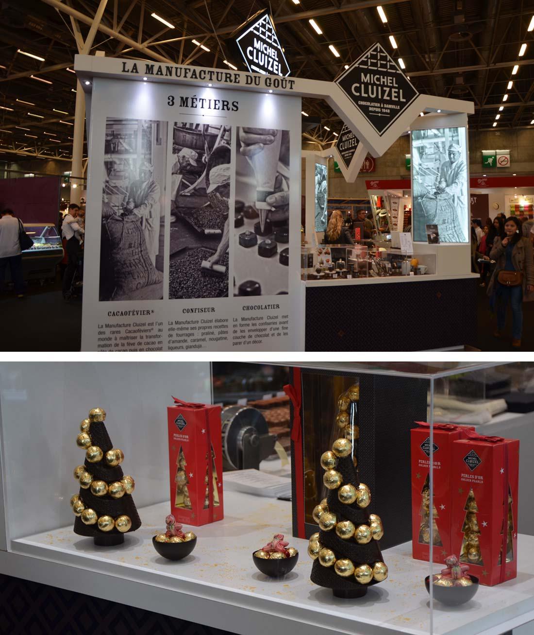 stand Michel Cluizel au Salon du Chocolat