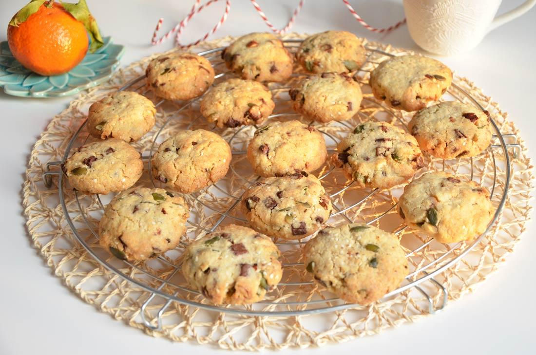 cookies chocolat noisette et graines de courge