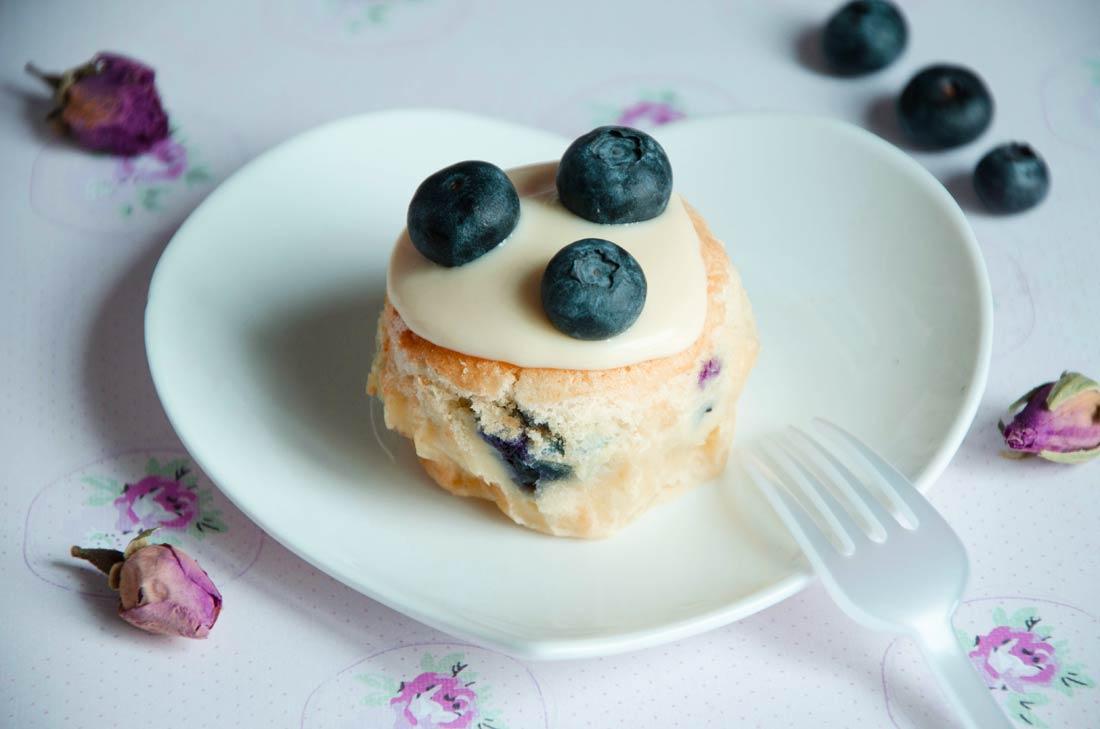 cupcakes magiques aux myrtilles