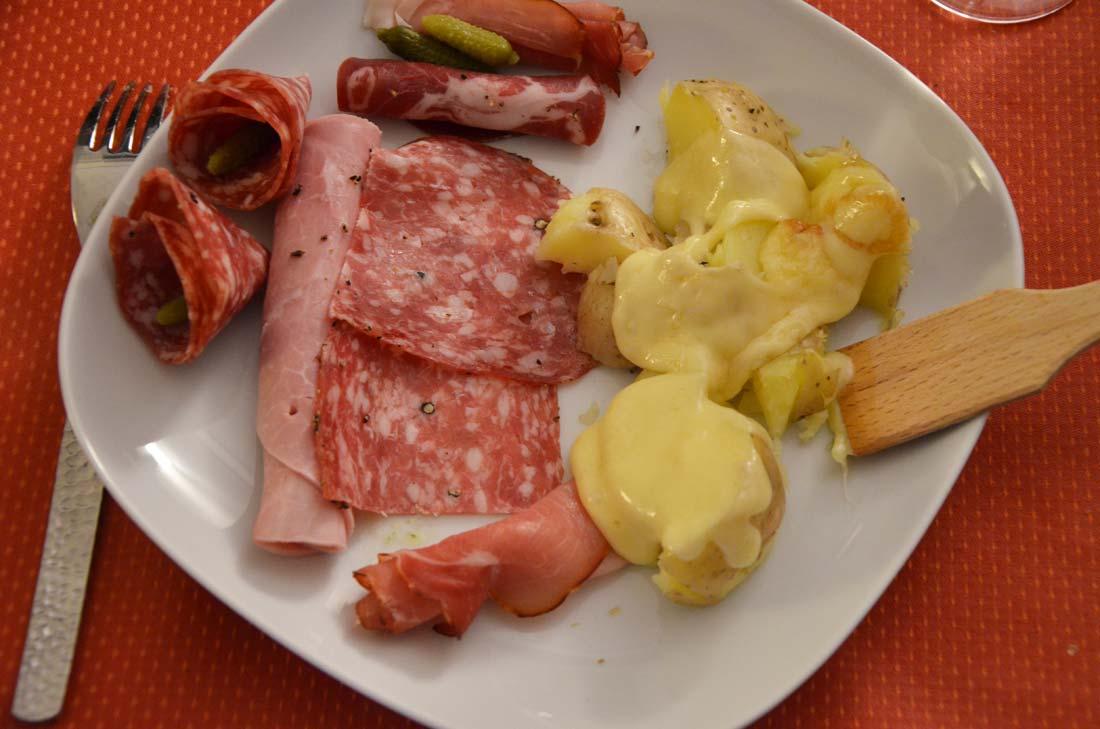 assiette de raclette