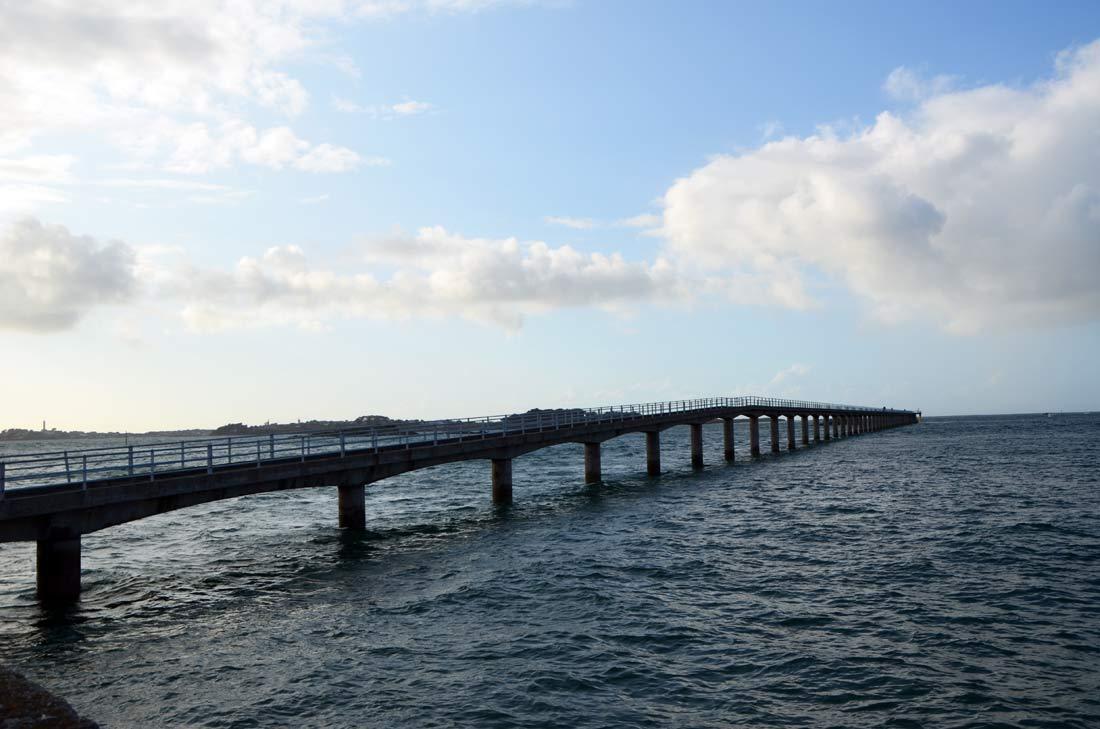 l'embarcadère de Roscoff pour l'ile de Batz