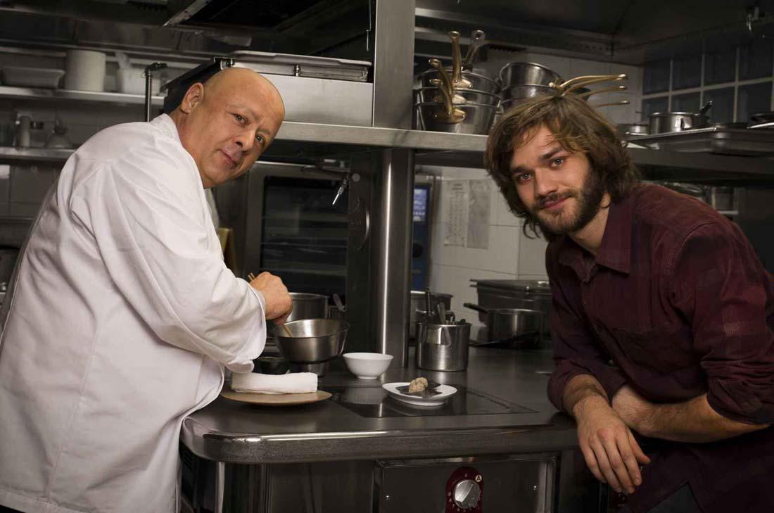 Lorenzo Richelmy Et Thierry Marx en cuisine