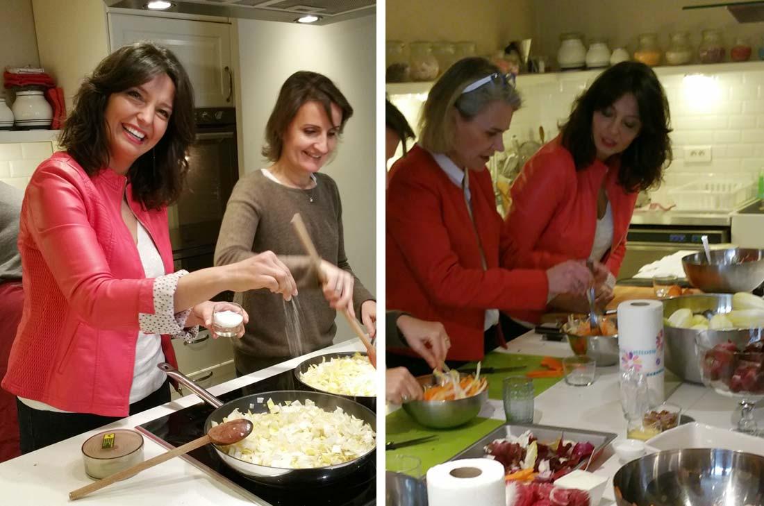 atelier Tartelettes à la fondue d'endives, poireaux et fromage de chèvre avec Carinne Teyssandier
