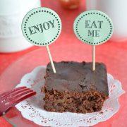 Brownies pralinés au chocolat sans beurre ni farine