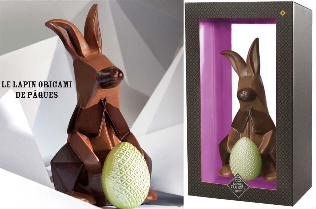 lapin origami de la Manufacture Michel Cluizel pour Pâques 2015