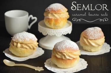 semlor à la bretonne au caramel au beurre salé