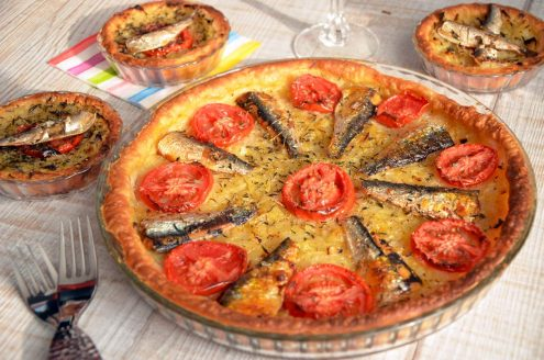 pissaladière tomates sardines